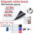 Magnetico Bordo Bianco Magneti Del Frigorifero Adsorbimento Diretto di Superfici Metalliche Asciutto Pulire Bianco Board Lavagna Gomma Della Penna