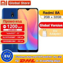 "Global Versi Xiaomi Redmi 8A 2 Gb 32 Gb Snapdragon 439 Octa Core 6.22 ""5000 M Ah 12MP kamera Smartphone(China)"
