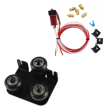 Mk10 Extruder Hot End Kit for Creality Cr-10 Cr-10S S4 S5 1.75mm Filament 0.4mm Nozzle & 3D Extruder Back Support Plate