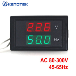 AC 80 300.0V 45 65HZ 2 w 1 cyfrowy miernik napięcia miernik częstotliwości woltomierz Hertz/HZ miernik czerwony wyświetlacz led 50HZ 60HZ w Mierniki częstotliwości od Narzędzia na