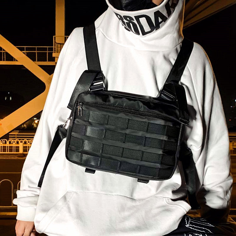 Tactical Functional Chest Bag For Men Vest Chest Rig Bags Unisex Trend Tooling Hip Hop Vest Waist Bag Chest Pack Kanye West