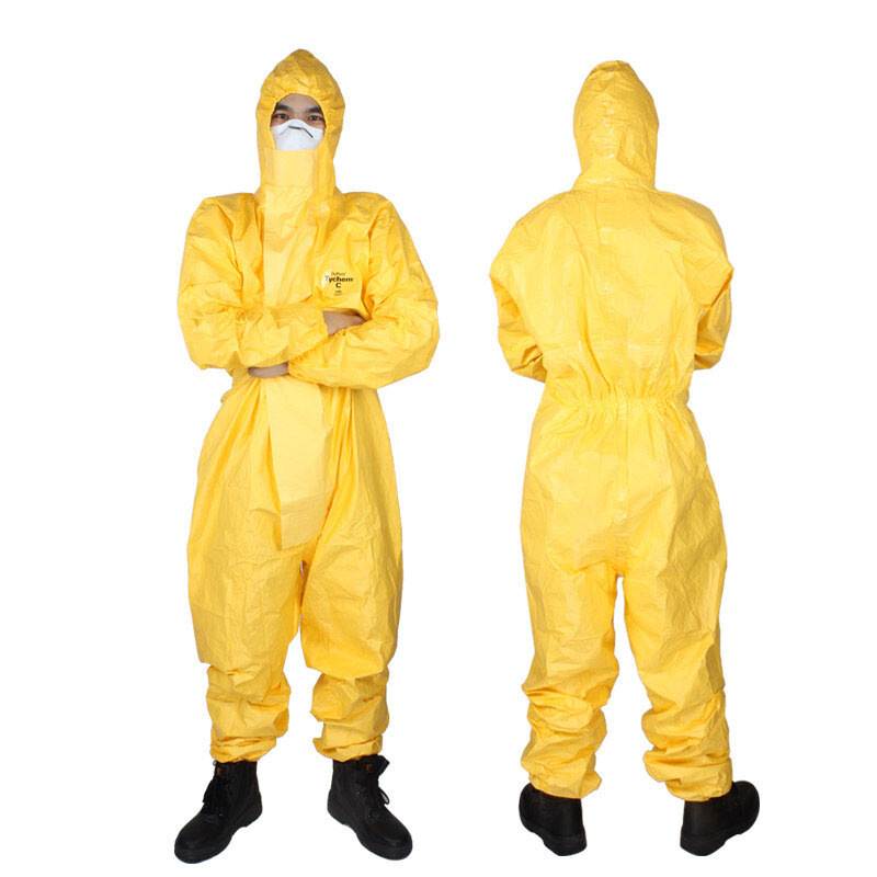 DuPont Chemical Protective Clothing Tychemc Class Anti-Corrosive Acid-base Oil Resistant Waterproof Experiment Isolation One-pie