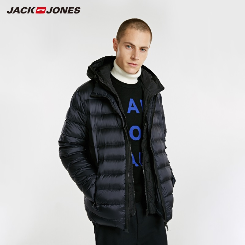 JackJones Men's Hooded Short   Down   Jacket Parka   Coat   Outerwear Menswear 218312522