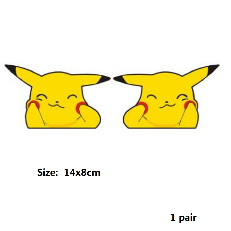 Image 4 - Car sticker Cute Pikachu pokemon figures Peeping Sticker Lovely Styling Car Accessories Motorcycle Sticker Pokemon Series Decals-in Car Stickers from Automobiles & Motorcycles