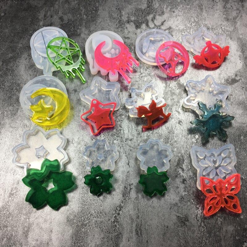 11 видов стилей, луна, звезда, лошадь, счастливый лист, жидкий силикон, смола, Expoxy, ювелирная форма, УФ, сделай сам, ювелирные изделия