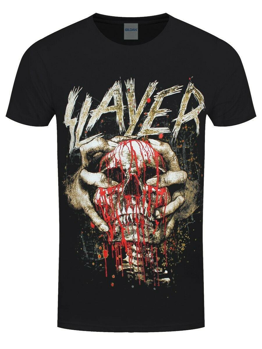 Slayer Skull Clench Camiseta para Hombre