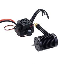 RC F540 4370KV/3300KV Waterproof Sensorless Brushless Motor and 60A Brushless ESC Combo Set For 1/10 RC Racing Car Boat Model цена в Москве и Питере