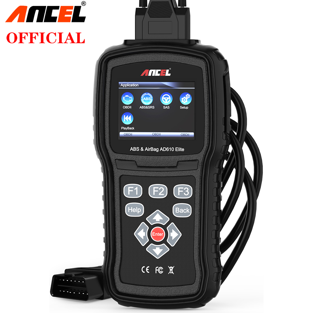 Ancel AD610 Pro OBD2 diagnóstico de coche OBD 2 escáner borrar Airbag datos de choque ABS SAS Auto escáner de motor completo funciona para 68 coches