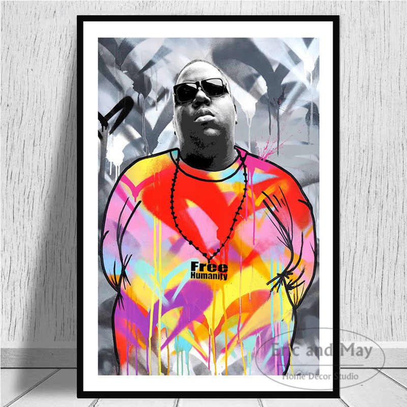 notorious b i g biggie smalls tupac canvas painting posters and prints pictures on the wall vintage decorative home decor plakat