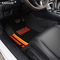 KADULEE Custom car floor mats for honda Fit CRV accord civic city jazz CRZ URV ENVIX stream elysion spirior insight foot mat