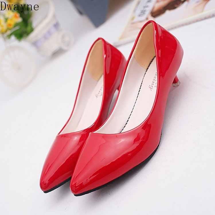 Tacones altos de tacón bajo de 3 Cm Stiletto zapatos de mujer salvajes zapatos de trabajo de comodidad Simple zapatos de boca baja de moda bombas