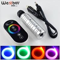 Westbay DC12V Touching Remote 6W Single Port RGB Kit Optic Light Source Illuminator Car DIY Decoration