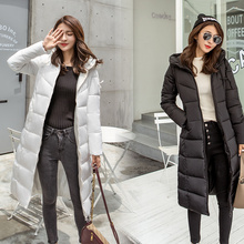 winter women Long parkas solid thick warm hooded slim styled jackets cotton padded sintepon parkas coat for female plus size цены онлайн