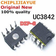 Puces IC originales et nouvelles UC3842AN DIP8 UC3842BN DIP 3842 UC3842 DIP-8, 10 pièces