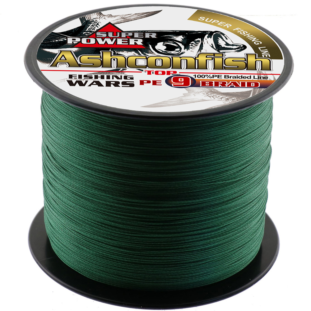 Abrasion Resistance strong braided fishing line 500M 9strands 15 20 25 30 40 50 60 80 90 100 140 160 210 310LBS test pe cords