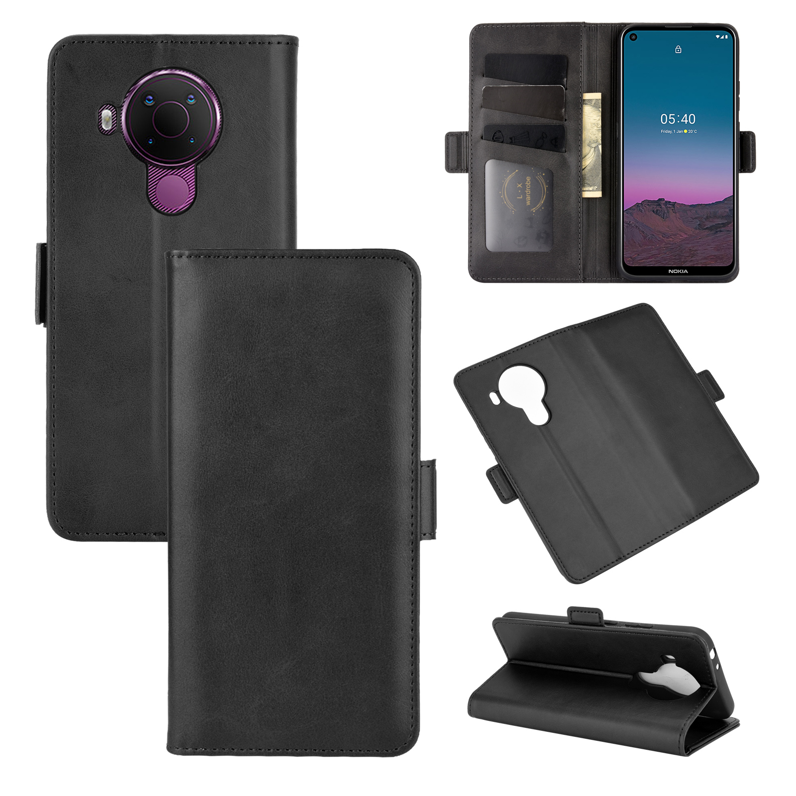 Case For Nokia 5.4 Leather Wallet Flip Cover Vintage Magnet Phone Case For Nokia 5.4 Coque