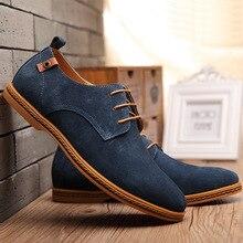 Zapatos casuales de cuero genuino de gamuza de vaca zapatos de moda Vintage para hombre zapatos de marca marrón para Hombre Zapatos de ocio para hombres