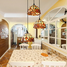 Candelabro europeo Tiffany E27 candelabros sol flor vintage cáscara 3 línea cabeza lámpara balcón pasillo decoración del hogar