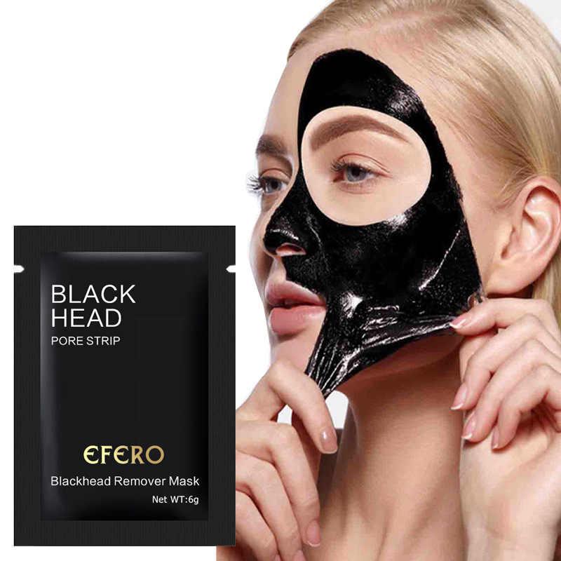 EFERO 1 قطعة قناع الأنف الأسود قناع الأنف شرائط البثرة مزيل العناية بالوجه قناع الوجه الأسود رئيس المسام قطاع تقشر قناع TSLM1