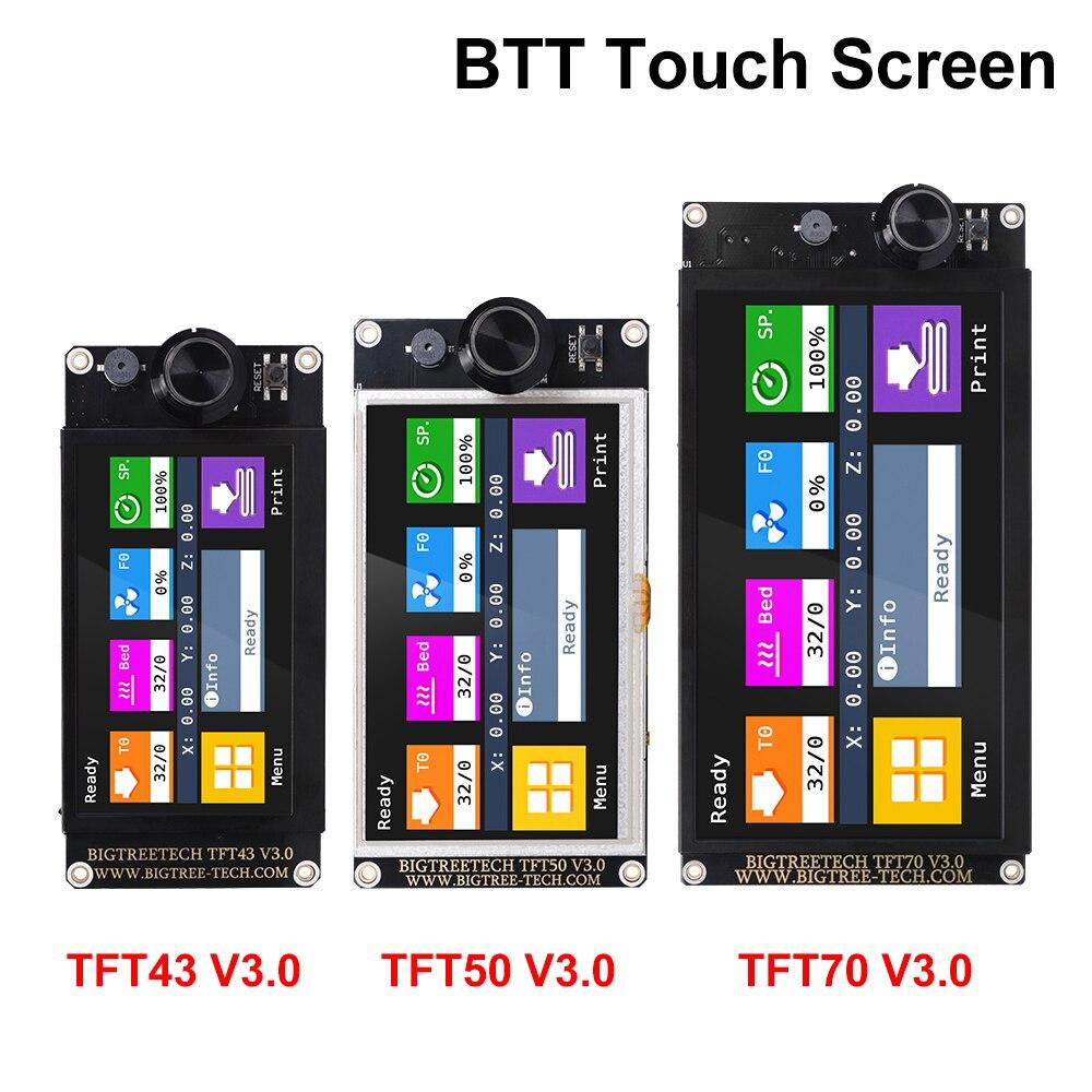 หน้าจอ: BIGTREETECH TFT43 V3.0 TFT50 TFT70 หน้าจอสัมผัส 12864LCD WiFi 3Dชิ้นส่วนเครื่องพิมพ์VS MKS TFT70 สำหรับSKR V1.4 Turbo MINI e3 Ender-3