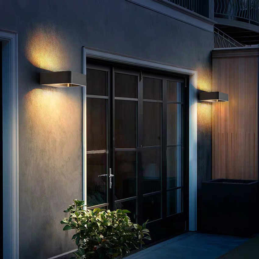 Lámpara de pared impermeable para exteriores, Sensor de luz LED de pared para interiores, aplique de pared decorativo, luces para porche o jardín, lámparas de pared FR602