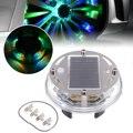 1 шт.  12 светодиодный RGB автомобильный Автомобильный светильник на солнечной энергии  лампа для шин  Декор  4 мигающих режима  автомобильный С...