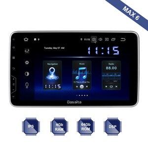 Автомобильный радиоприемник Android 10 с GPS, 2 Din, универсальный, регулируемый угол, 10,2