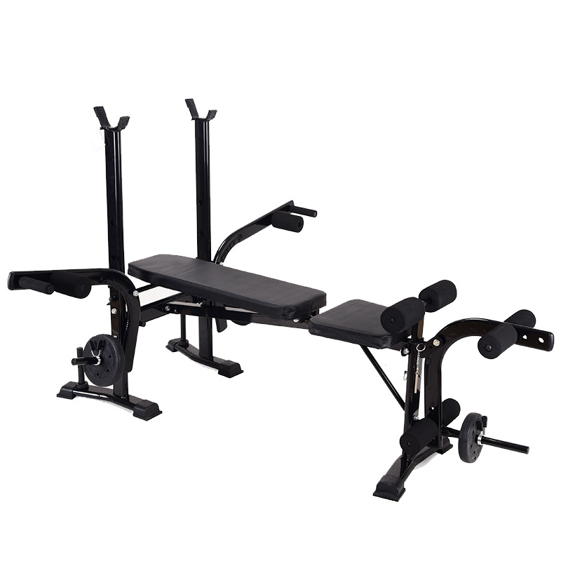YCJ-001B Multifunctional Gym Weight Bench Dumbbell Stool Foldable Abdominal Sit-Up Supine Board Press Bench Fitness Equipment