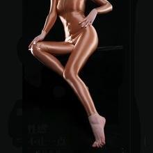 Sexy Brilhante Gloosy Óleo de Corpo Inteiro Bodysuit Apertado Sexy Tanga Moldar Bodysuit Catsuit Sheer Ver Através Sexy Apertado Doce Cor F38