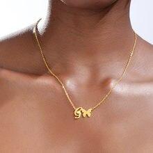 Ожерелье с буквенным принтом и в виде бабочки подвески алфавитом
