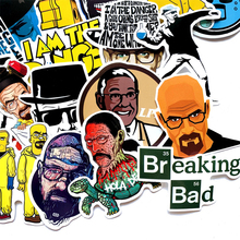 50PCS Breaking Bad TV show stickers funny Creative badges DIY decorative Cartoon PC wall notebook phone Waterproof