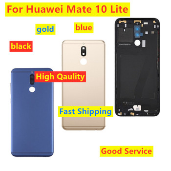 High Qaulity Battery Cover For Huawei Mate 10 lite Rear Back Battery Door Case For HUAWEI Nova 2i RNE L21 Metal Housing Cover