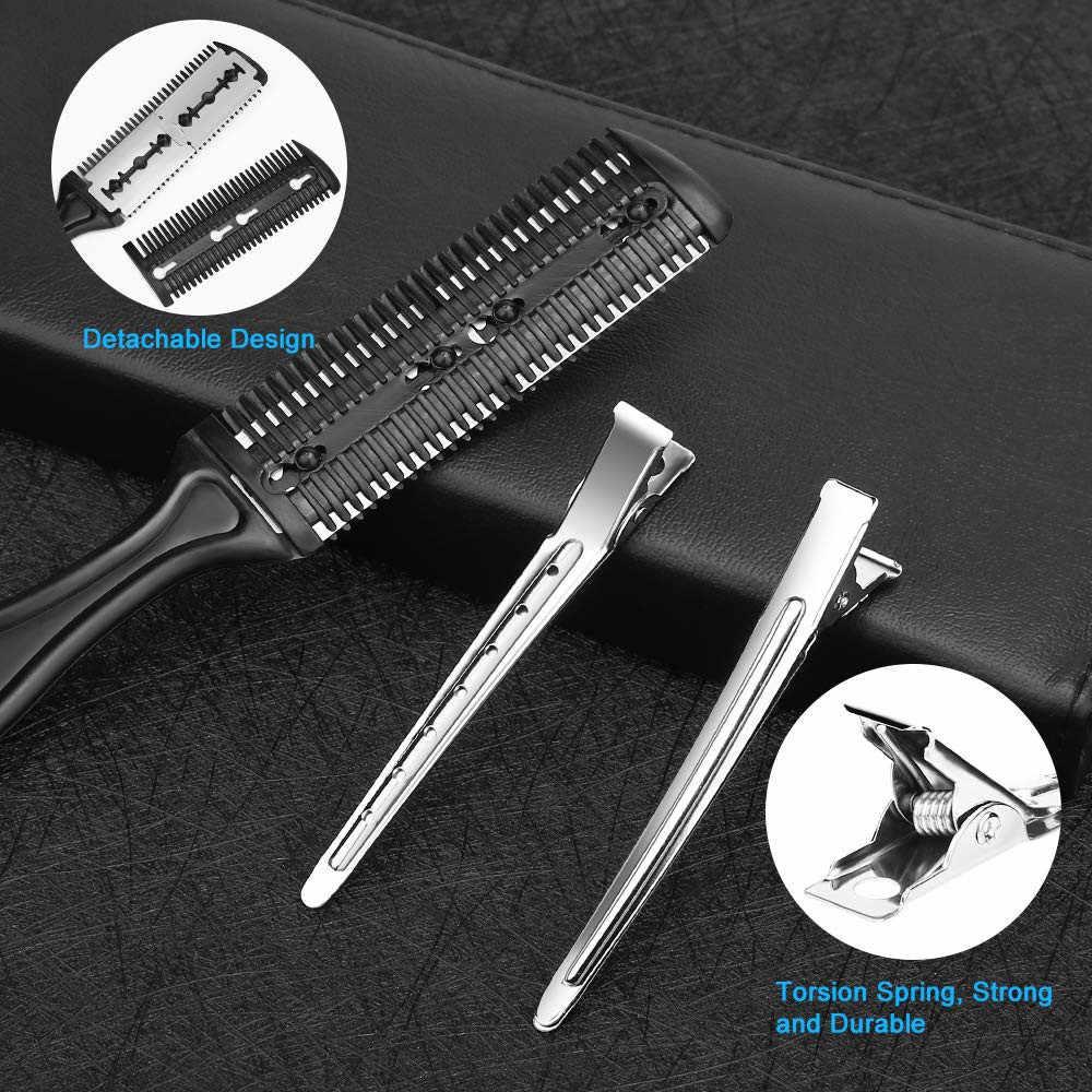 10 sztuk nożyczki do włosów 6.7 Cal fryzjer fryzjerstwo cięcia profesjonalne ścinanie ze stali nierdzewnej przerzedzenie podnośniki Barbershop Salon zestaw