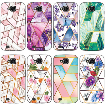 Soft Phone Case for LG X Venture / X Calibur / V9 H700 Funda Glossy Colorful Flower Silicone Phone Back Cover Geometric Marble image