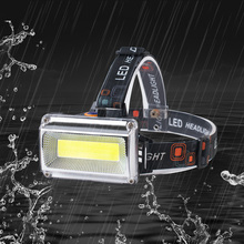 COB headlights outdoor camping night riding waterproof headlamp portable rechargeable bicycle lights