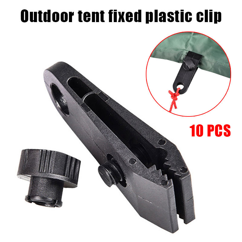 Newly 10Pcs Plastic Tent Fixed Clip Windproof Shed Clamp for Tent Camping Accessories SD669 in Outdoor Tools from Sports Entertainment