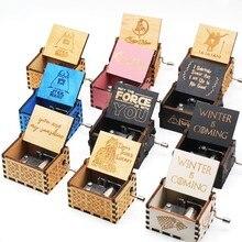 Антикварные резные деревянные рукоятки музыкальная шкатулка королева подарок на день рождения Шкатулка анонимичность украшения Звездные войны