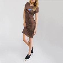 Платье карандаш с круглым вырезом коротким рукавом и