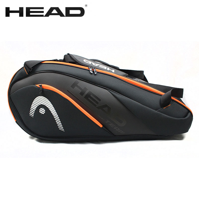 HEAD Badminton-Bag Tennis-Racket-Bag Large-Capacity Tenis PU 6-9 Men Women title=