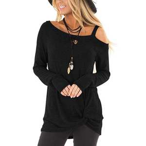 Pullover Sweater Oversized Knit Off-The-Shoulder Womens Blouse Batwing-Sleeve Fashion