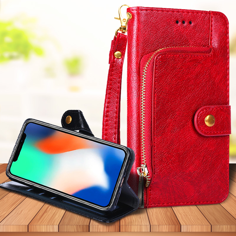 For <font><b>Nokia</b></font> 9 PureView 8.1 8 7.2 7.1 7 6.2 6.1 6 <font><b>5.1</b></font> 5 Plus Fashion Zipper Wallet Bag Leather <font><b>Case</b></font> Lanyard Card Slots <font><b>Phone</b></font> Cover image