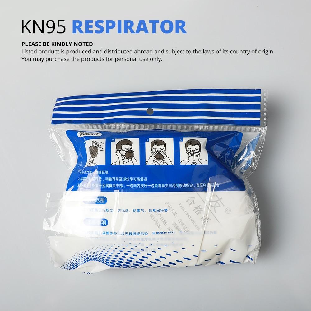 Image 5 - 10 pcs KN95 Dustproof Anti fog And Breathable Face Masks 95% Filtration N95 Masks Features as KF94 FFP2Masks   -