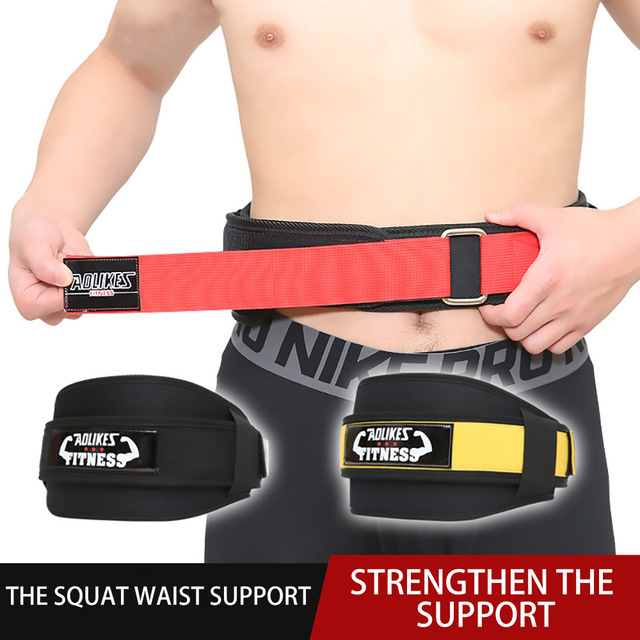 FDBRO Man Nylon Fitness Weight Lifting Squat Belt Safety Gym Waist Suppport Training Belt Back Supporting Protect Lumbar Power Uncategorized