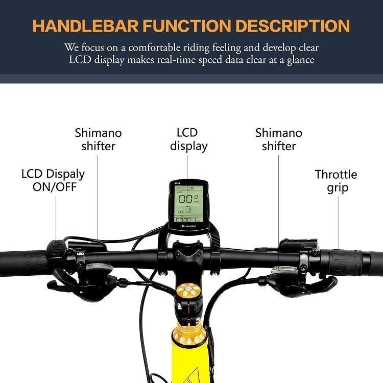 EU Quality XT750Plus 1000W E-bike 26 inch Fat Tire 1000W Electric Bike 1000W Electric Bicycle w 6