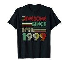Abril 1999 t camisa 20 anos de idade camisa 1999 20th aniversário presente