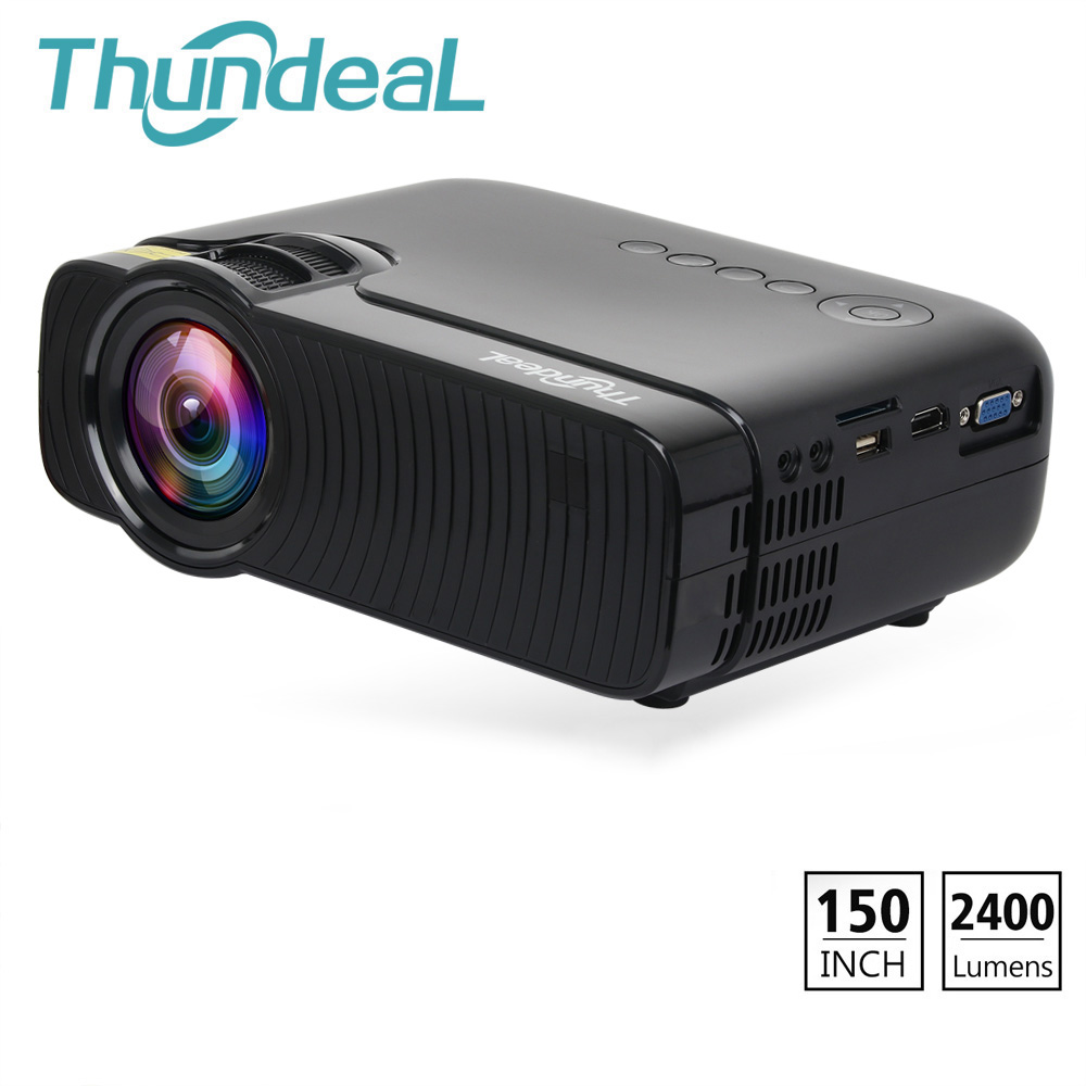 ThundeaL TD30 Max Projector 2400Lumen Mini Beamer LED HD Video HDMI VGA Support 1080P Game Party