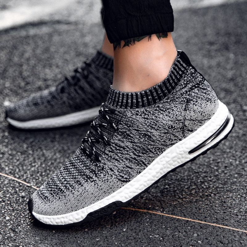 lowest price Xiaomi Mijia Sneakers Men s Outdoor Shoes Light Breathable Knitting Male Running Shoes Size 39-46 Smart Sporting Shoes Dropship