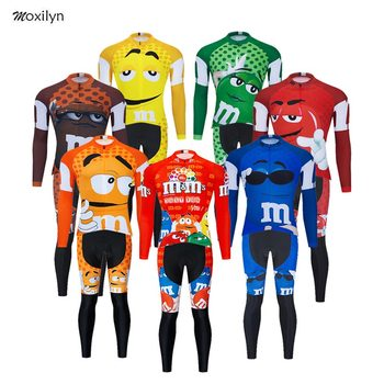 Funny Novelty Long Sleeve Cycling Clothing Sets Breathable MTB Bike Clothing Mens Bicycle Clothes Ropa Ciclismo Cycling Jerseys blue cycling women set long sleeve women bike clothing winter ropa ciclismo cycling jerseys suit pink bicycle riding clothes