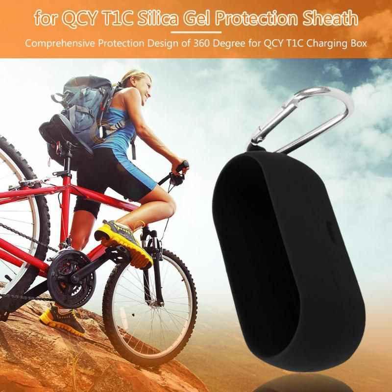 Przenośny silikonowa osłona ochronna dla QCY T1C pudełko bezprzewodowe słuchawki Bluetooth przypadku Protector pyłoszczelna miękka okładka