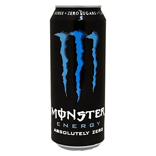 Monster Energy Absolutely Zero Can, Sugar Free Energy Drink, Energy, With Taurine And Caffeine, 0.5l